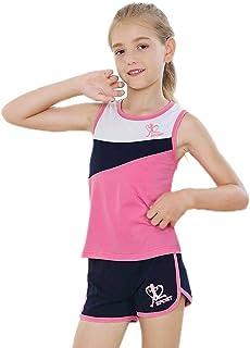Girls Short Set Dolphin Shorts Tank Top 2 Piece Outfits...