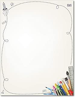 School Supplies Stationery Paper - 80 Sheets - Great For First Day of School or Art Classes