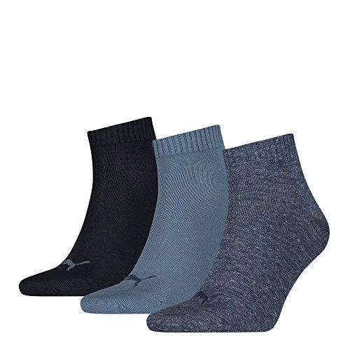 Unisex Quarters Socken Sportsocken 6er Pack (Denim Blue, 6 Paar - Gr- 39-42)