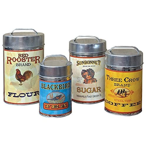Awe Inspiring Metal Canisters Sets For The Kitchen Amazon Com Home Interior And Landscaping Spoatsignezvosmurscom