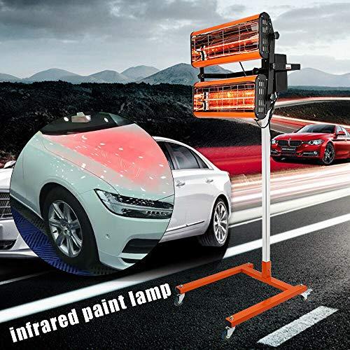 Secador de pintura para coche, calefacción por infrarrojos, onda corta, lámpara para endurecer el cuerpo del coche, pintura de reparación, lámparas, secador, kit de herramientas 1000 W