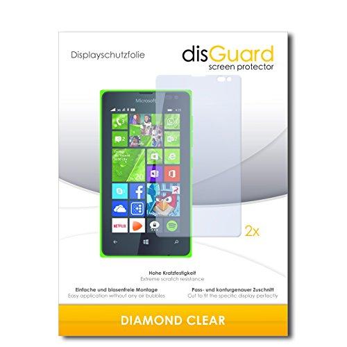 disGuard 2 x Bildschirmschutzfolie Microsoft Lumia 435 Schutzfolie Folie DiamondClear unsichtbar