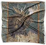 Sheep Bull Moose Pañuelo de poliéster con bolsillo cuadrado mulipurpose de seda, estampado delicado