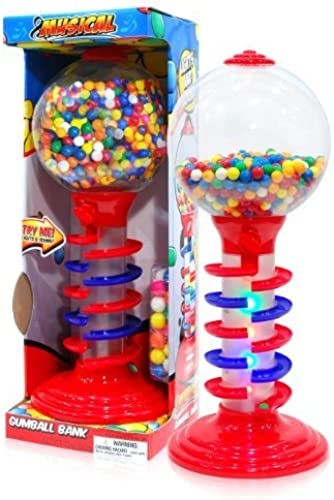 Sweet N Fun Light and Sound Spiral Gumball Bank with 340G Gumballs, 21 by Sweet N Fun