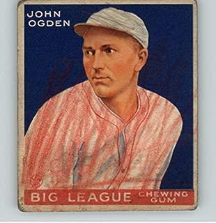 1933 Goudey #176 John Ogden Baltimore PR-FR 358981 Kit Young Cards