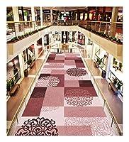 CnCnCn 欧州のプロムナードカーペットシンプルでモダンなノンスリップ回廊ベッドルームホテルのロビー (Color : Pink, Size : 60X450cm)