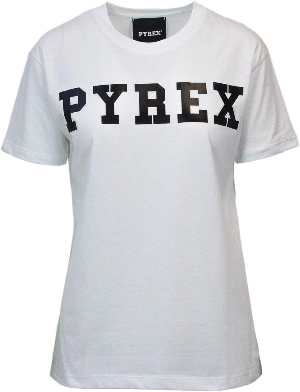 Pyrex Women's 33008WHITE White Cotton TShirt