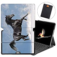 MAITTAO Case For Microsoft Surface Go 2018, Folio Smart Stand Cover with Pen Holder for Surface Go 10-inch Tablet Sleeve Bag 2 in 1, Compatible with Type Cover Keyboard, Akhal-Teke Horse 17