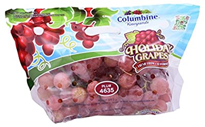 Grape Holiday Red Seedless Conventional, 1 Bag