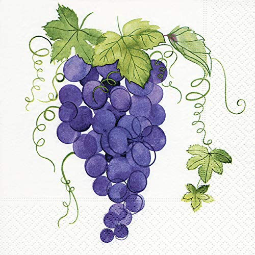 20 servetten druiven blauw wijn wijnoogst drinken