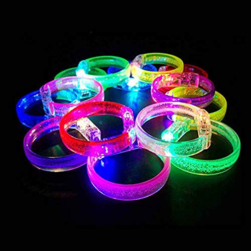 14 Pieces Halloween LED Bracelet Light Up Bracelets LED Light Bracelet Led Armbands Flashing Sports Wristband High Visibility Gear for Halloween Party, Running, Cycling, Concerts, Festivals