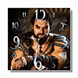 Art time production A Game of Thrones Khal Drogo Jason Momoa 11'' Handmade Wall Clock - Get Unique décor for Home or Office – Best Gift Ideas for Kids, Friends, Parents and Your Soul Mates