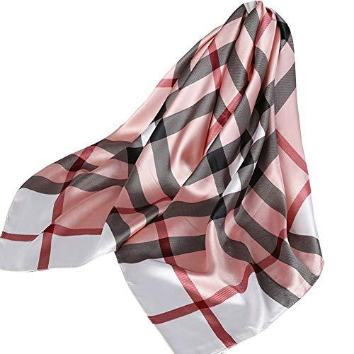 Ecroon Sciarpa Di Seta per Donna Grande Raso Quadrato Testa Collo Sciarpe Leggero Neckerchief Elegante Sciarpina (I, One size)