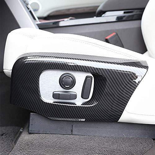 Cadre de Garniture de Cadre de siège latéral en Plastique ABS pour RR Velar Sport 2018 pour Discovery 5 L462 LR5 2017-2018 en Fibre de Carbone