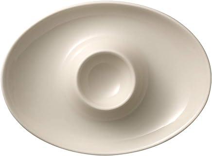 Preisvergleich für Villeroy & Boch Royal Eierbecher mit Ablage, Premium Bone Porzellan, Weiß