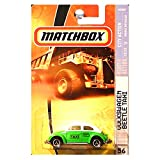 Matchbox Volkswagen VW Beetle Taxi Green And White 2008 56 City Action Series 12 of 12  1:64 Scale Collectible Die Cast Car