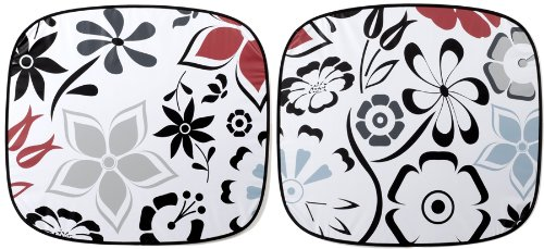 Auto Expressions FANCY FLORAL MAGIC SHADE WINDSHIELD SUNSHADE SUN SHADE (STANDARD SIZE)