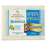 Spuma di Sciampagna Saponetta Naturale Marsiglia 2 Pezzi - 120 Gr...
