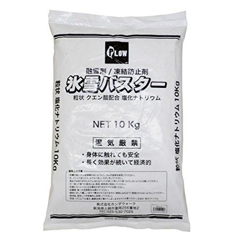 融雪剤 氷雪バスター 粒状 クエン酸配合塩化ナトリウム 10kg (1)