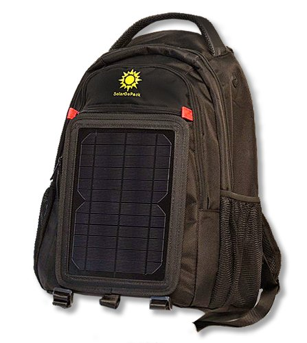 SolarGoPack 10k, solar powered backpack, charge mobile devices, Take Your Power with You, 10k mAh...