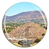 Weekino Pirámide de la Luna San Juan Teotihuacan México Imán de Nevera Cristal de Cristal Turista Ciudad Viaje Colección de Recuerdos Regalo Fuerte Etiqueta Engomada del refrigerador