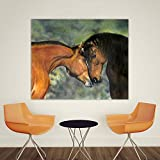 baodanla Pintura al óleo sin Marco Embelish HD Print On Canvas Oil Ng Two Horses In Love Wall Art Pictures for Living Room Modern Home Decor50x70cm
