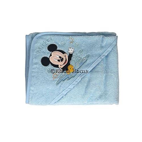 Disney Accappatoio Baby Topolino Triangolo Neonato 100% Spugna Cotone con Ricamo