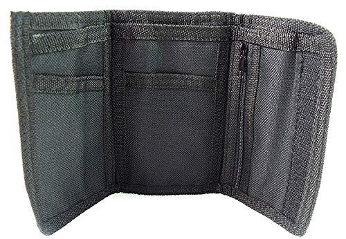 Emporium Leather Pour Hommes Femmes Filles Garçons Toile Portefeuille Carte Crédit Portefeuille - Noir, S