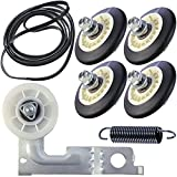 Upgraded Dryer Repair Kit Compatible with LG Kenmore Dryers Includes 4581EL2002C Dryer Drum Roller 4400EL2001A Dryer Belt 4561EL3002A Idler Pulley and Spring,Figures 6 and 7 are Fit Models