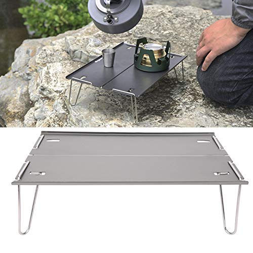 Pwshymi Stable Non-slip Camping Table Camping Folding Table Strength for Barbecues