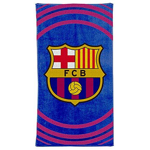 Toalla de baño y playa oficial del FC Barcelona (100% algodón, 70 x 140 cm)