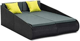 Gardeon Sun Lounger Day Bed Outdoor Furniture Rattan Chair Wicker Gardeon Yard Piato