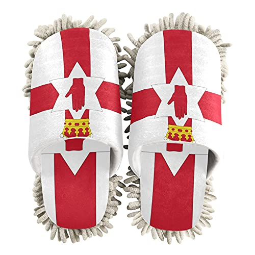 Zapatillas de limpieza unisex con bandera de Irlanda del Norte