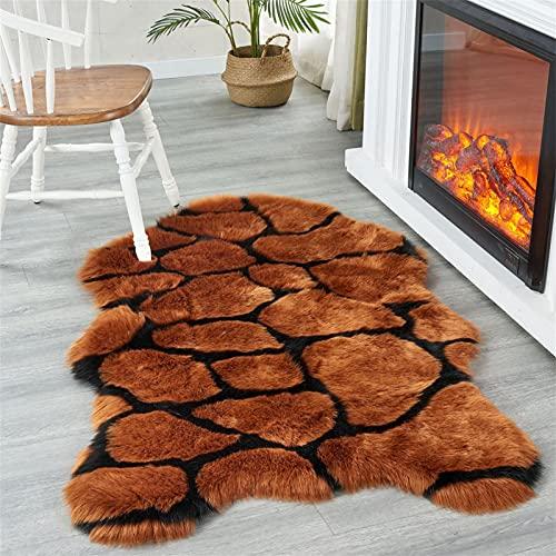 Upupto Ultraweiche flaumige Teppich Faux Schaffell Pelzbereich Teppich Shaggy Couch Cover neben Teppichen für Schlafzimmer Boden Sofa Wohnzimmer Runner,90 * 160cm