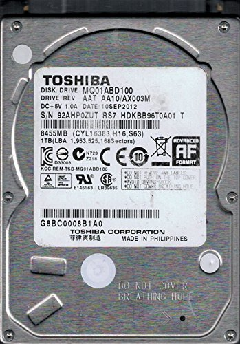 Toshiba MQ01ABD100 AAT AA10/AX003M China 1TB