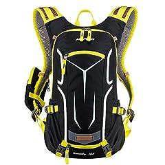 Plecak rowerowy Women & Men 18L - Light Small Day Backpack for Everyday Life - Wodoodporny plecak motocyklowy Plecak turystyczny Plecak sportowy MTB Plecak narciarski Plecak - z osłoną przeciwdeszczową Czapka / Kask Net/ 5,5-calowy Etui na telefon komórkowy - przez Lixada