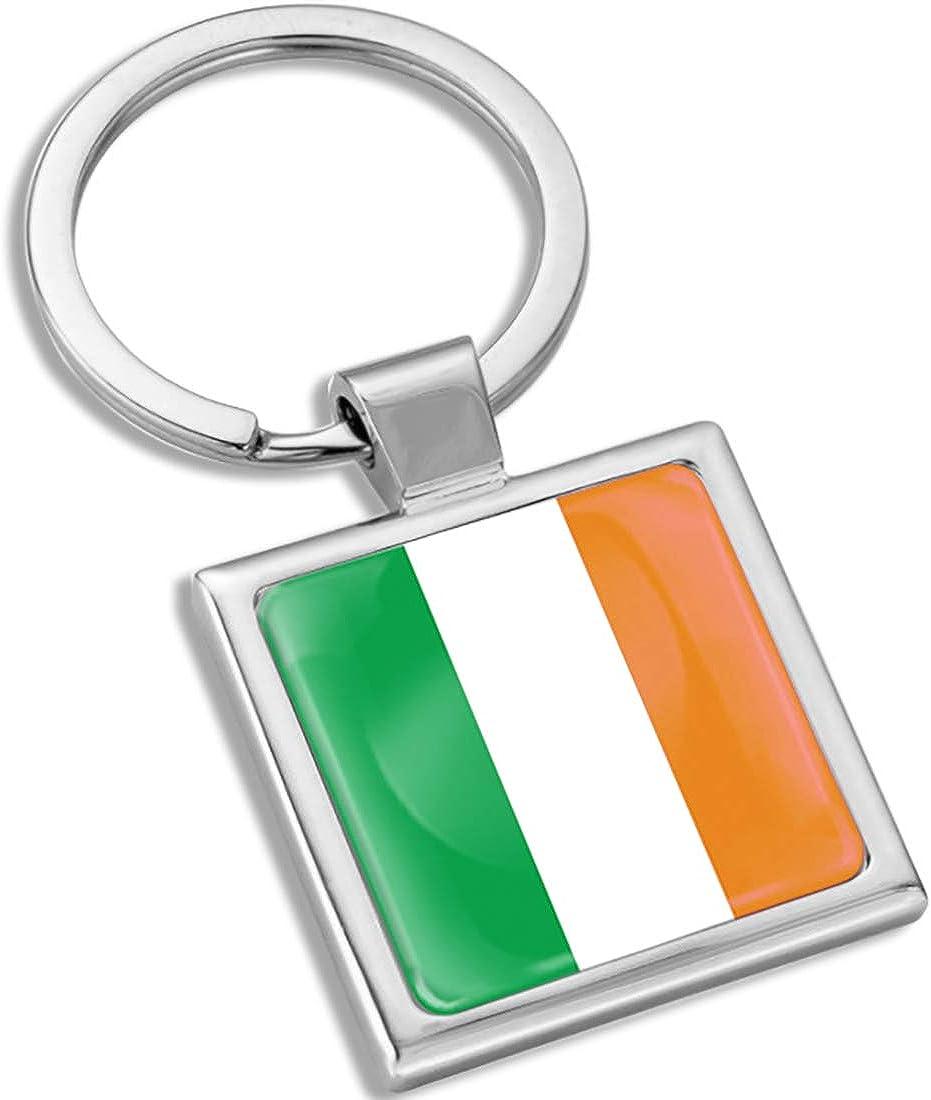 Biomar Labs 3D Metal Keyring Key Chain Gift Men Women Keychain Giftbox Ireland Irish National Flag KK 284