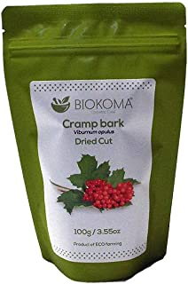 100% Pure and Natural Biokoma Cramp Bark Dried Cut 100g (3.55 oz) in Resealable Moisture Proof Pouch