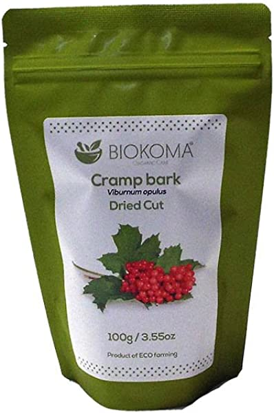 100 Pure And Natural Biokoma Cramp Bark Dried Cut 100g 3 55 Oz In Resealable Moisture Proof Pouch