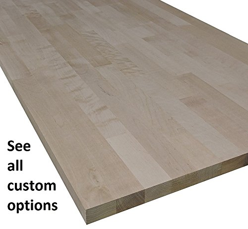 "Allwood 1"" x 12"" x 29"" Birch Table/Counter/Island Top see all edge options (Classic Roman edges)"