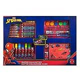 Undercover- Marvel Spider-Man - Maletín de Pintar (con Cera, Pinturas de Fibra, Acuarelas, lápices de Colores, Plantillas y Muchos Accesorios, más de 100 Piezas) (SPLO4101)