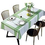 DARUITE Tischdecke,Wachstischdecke Gartentischdecke Wachstuch Abwaschbar Tischwäsche Tischtuch abwischbare Wasserabweisend Tischdecken für Hause,Garten,Party,Draussen Outdoor Rechteckig 137x185cm