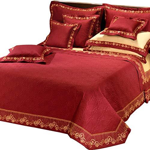 Equart Completo Letto Matrimoniale Lussuria Raso di cotone Rosso - 37012