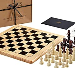 Jaques of London Chess Set Complete with Pieces - Quality Chess Board and Jaques Staunton Chess Pieces - Jaques Chess Quality Since 1795