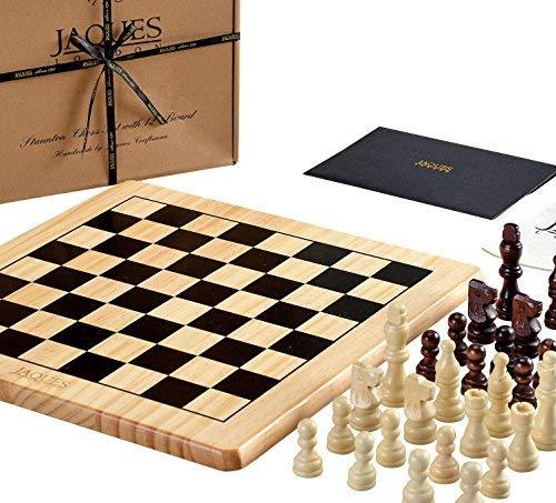 Jaques of London Juego de ajedrez Completo con Piezas - Tablero de ajedrez de Calidad y Piezas de ajedrez Jaques Staunton - Calidad de ajedrez Jaques Desde 1795