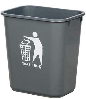C-J-Xin Uncovered Trash Can, Plastic Waterproof Bathroom Trash Can Outdoor Street Corridor Trash Can Office Waste Bin Tras...