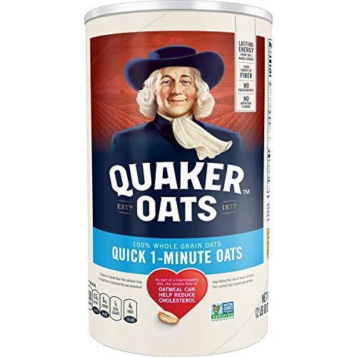 Quaker Oats Quick 1-Minute (100% Natural Whole Grain) 42oz - Quantity 2