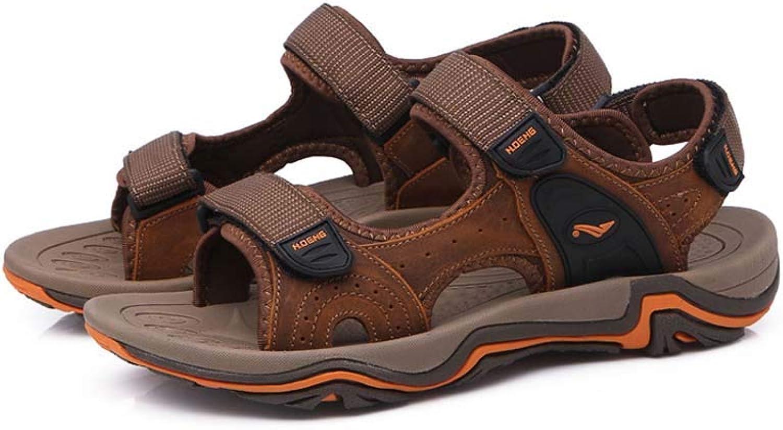 Men's Outdoor Sandals, Summer Sports Men's Fisherman's Beach Leather Casual Walking shoes Trekking Walking