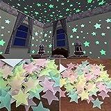 Adesivi che brillano al buio , Murali fai da te sul soffitto, Stelle che brillano nella ...