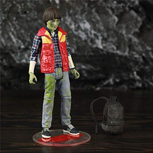 QWYU Stranger Things Eleven Will Lucas Mike Dustin 7' Action Figure From Mcfarlane Toys Tv Netflix Series Doll Collectible WILL